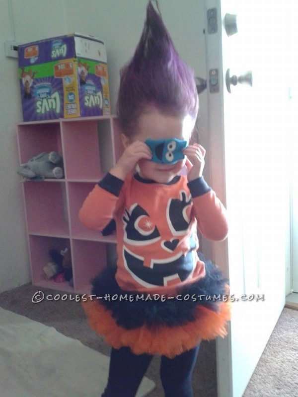 Cool DIY Toddler Troll Costume