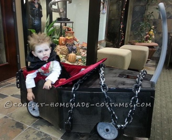 Coolest Vampire Costume with Coffin Wagon!