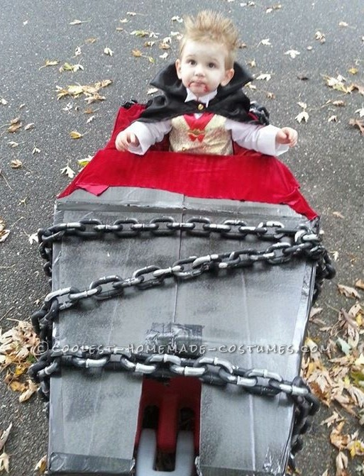 vampire complete with coffin wagon