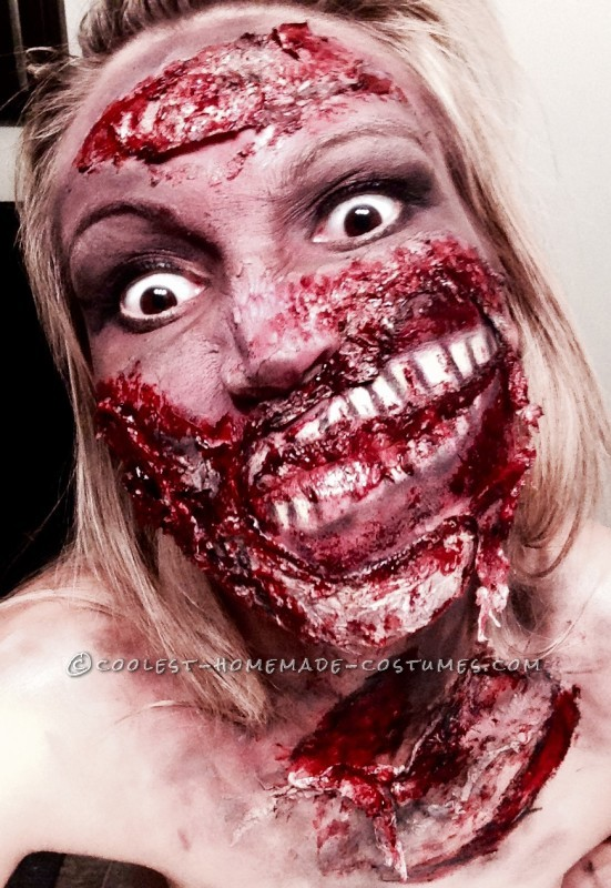 Grotesque Zombie Makeup and Costume - 1