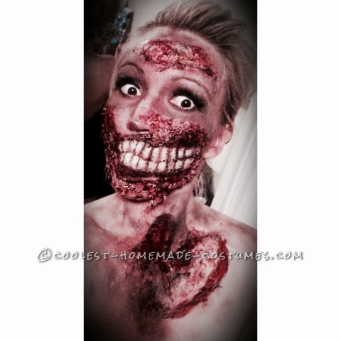 Grotesque Zombie Makeup and Costume