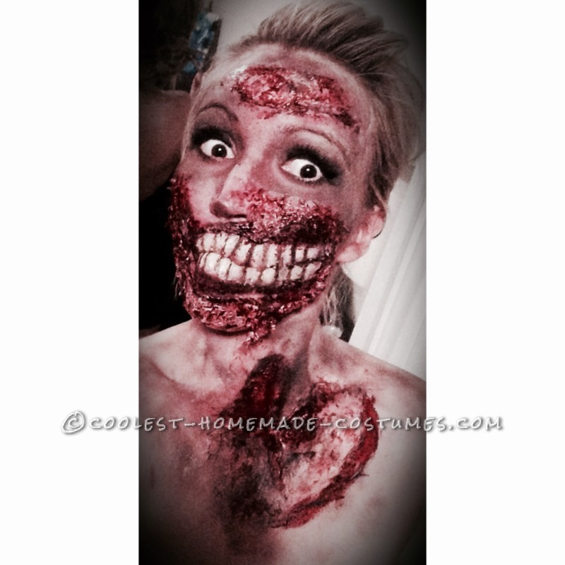 Grotesque Zombie Makeup and Costume - 3