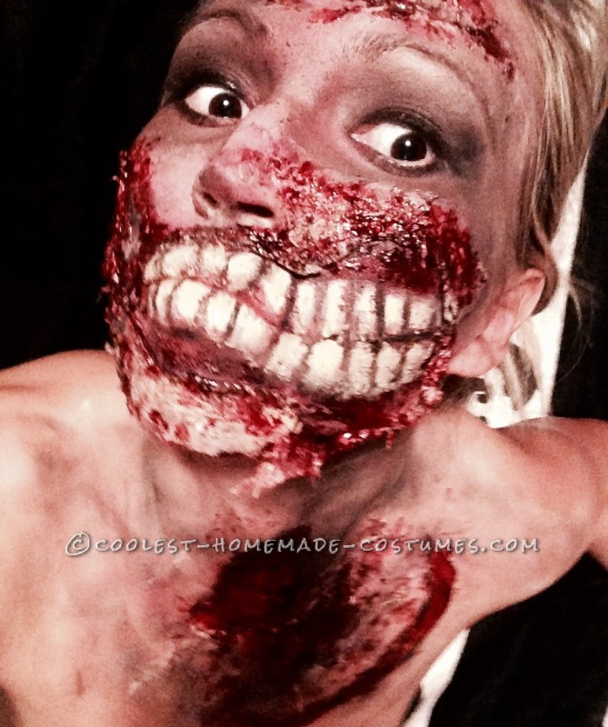 Grotesque Zombie Makeup and Costume - 2