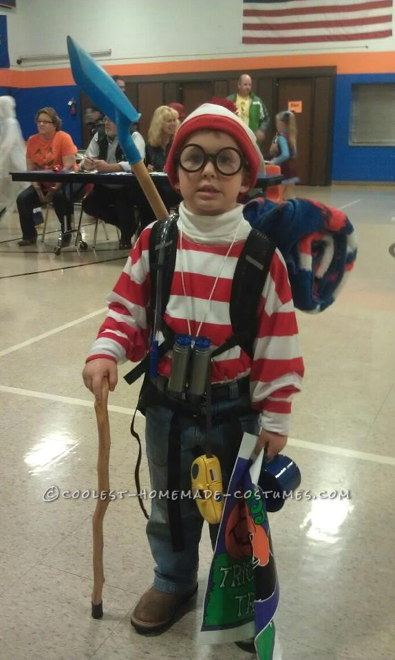Spruced-Up Where's Waldo Costume for a Boy