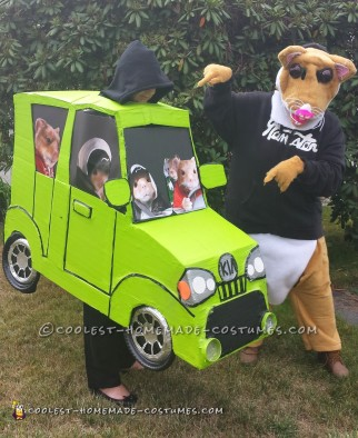 Cool DIY Couple Costume: Kia Hamster and Soul Car