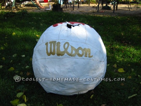 Wilson the Volleyball Paper Mache Costume