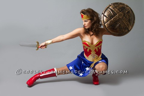 Sexy Wonder Woman Costume - Pin Up Style