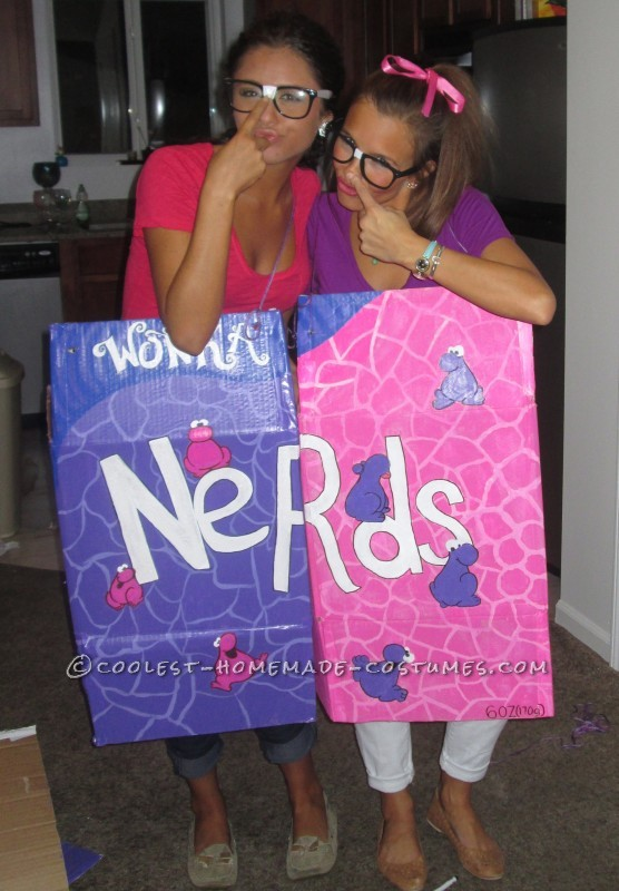 Cool Wonka Nerds Couple Costume