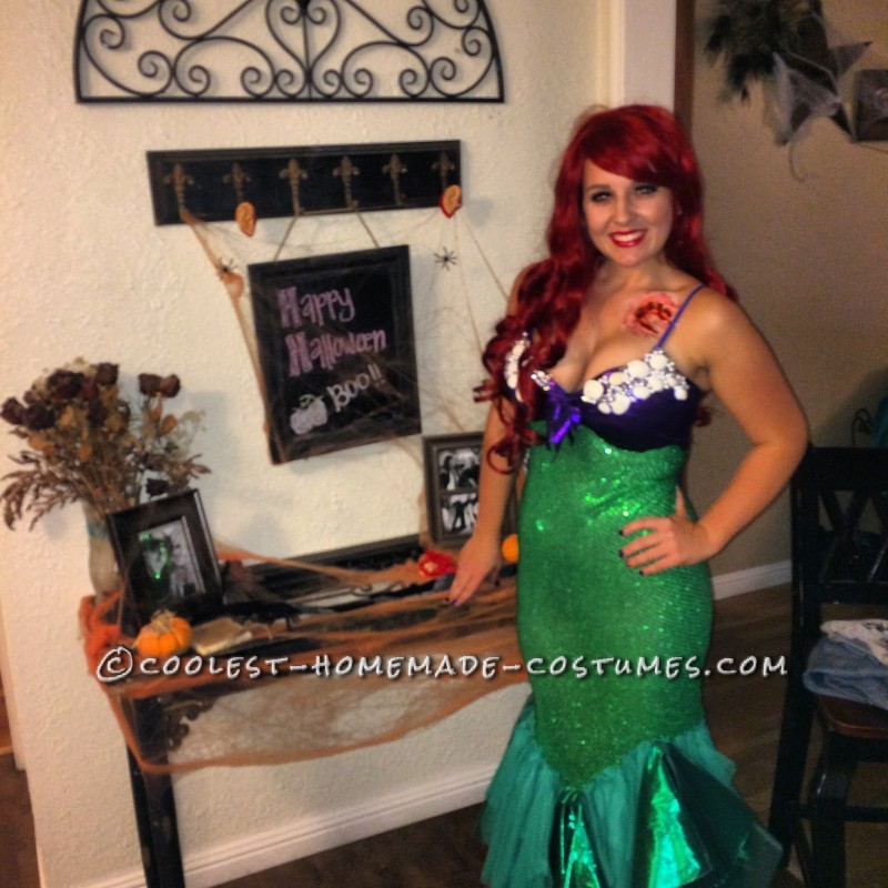 Zombie Prince Eric and Innocent Ariel Couple Costume - 5