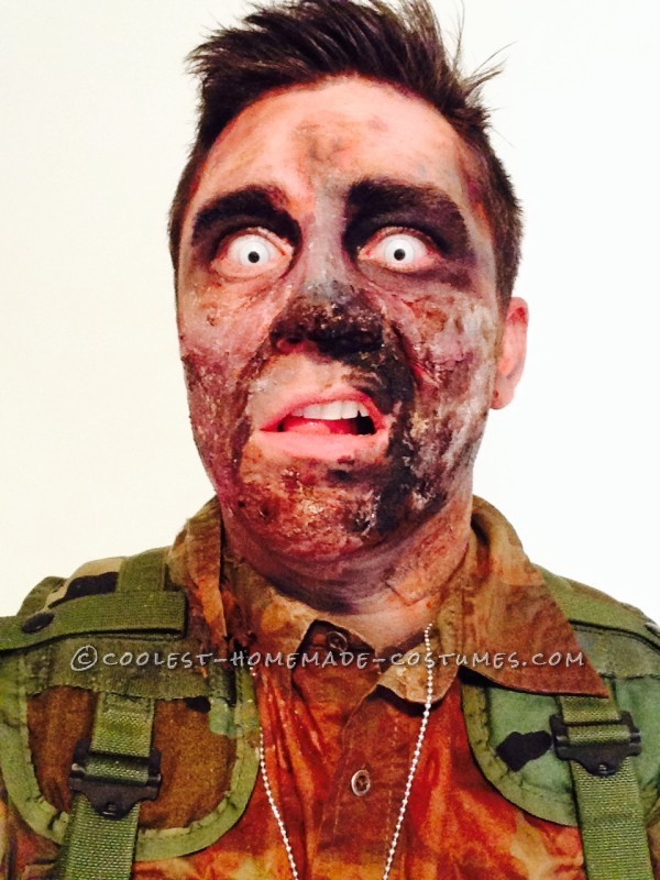 Zombie Soldier Makeup and Costume - 1