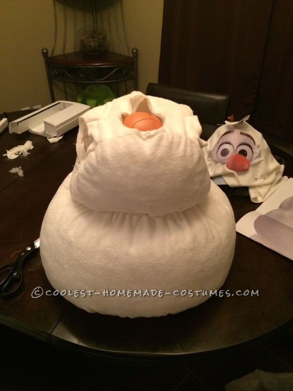 Coolest Homemade Toddler Olaf Snowman Costume - 4