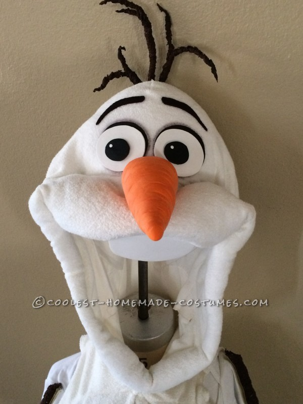 Coolest Homemade Toddler Olaf Snowman Costume - 1