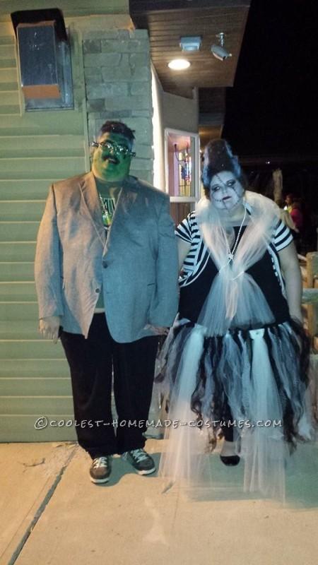 Hair Raising Frankenstein and his Bride Couple Costume!