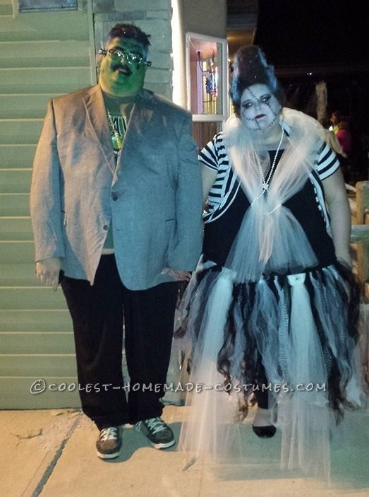 Hair Raising Frankenstein and his Bride Couple Costume!