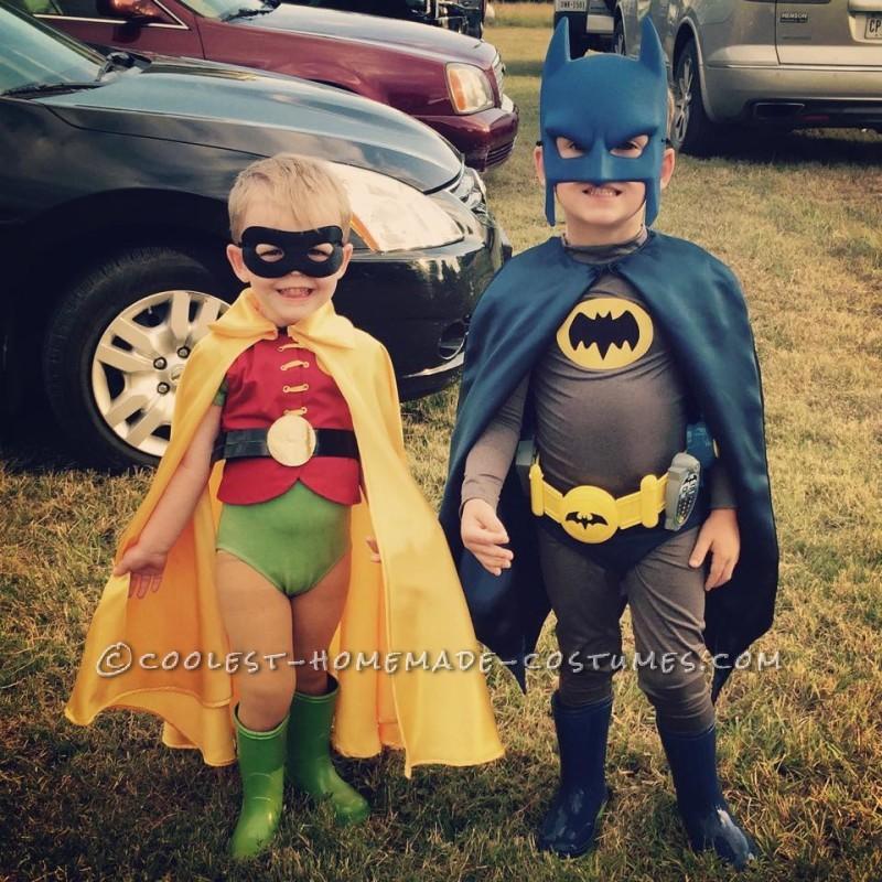 1960s Batman and Robin Child Couple Costumes