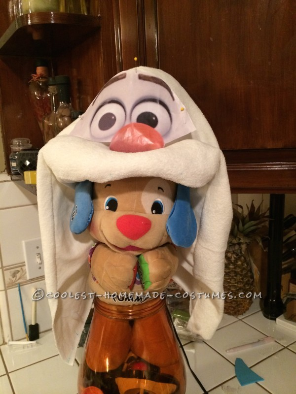 Coolest Homemade Toddler Olaf Snowman Costume - 3