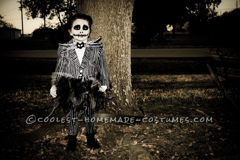 Homemade Jack Skellington Toddler Costume