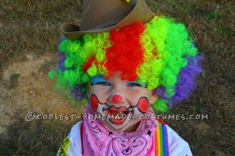 Cute Rodeo Clown Costume for 2-Year-Old