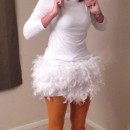 Homemade Chicken Costume for a 6 Foot Woman