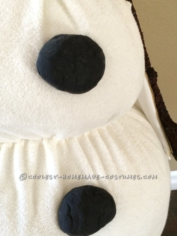 Coolest Homemade Toddler Olaf Snowman Costume - 8