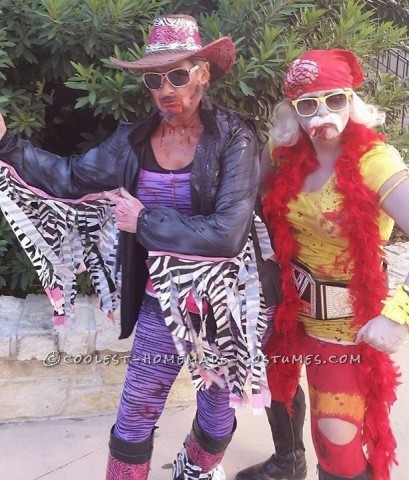 Homemade Zombie Wrestlers Group Costume