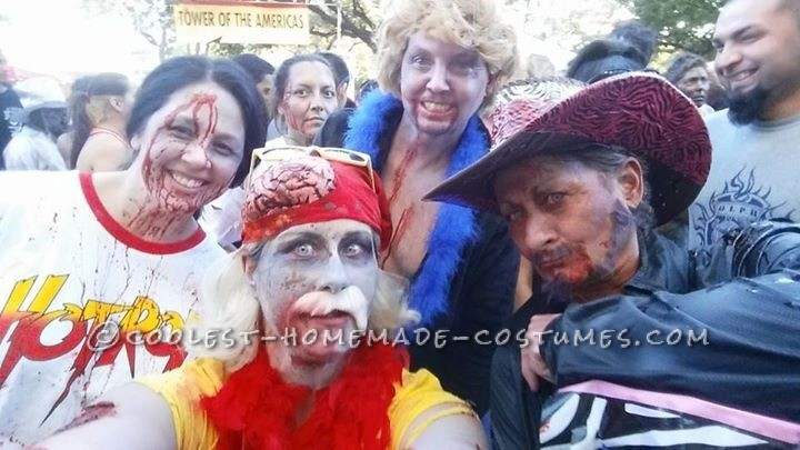 Zombie wrestlers selfie