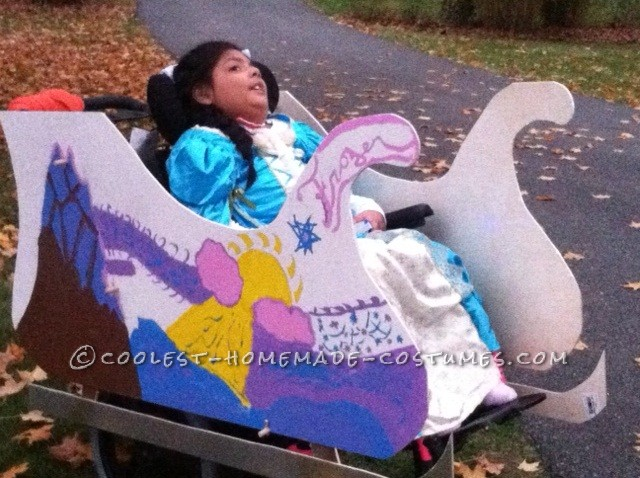 9 year old girls wheelchair becomes a princesses chariot