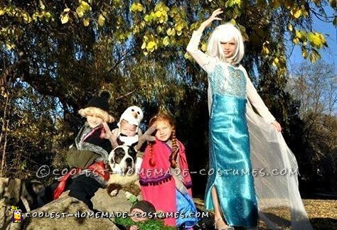 Frozen Costumes Group Pose
