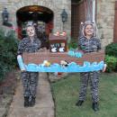 Cool Couple Costume Idea: Zebras in Noah's Ark