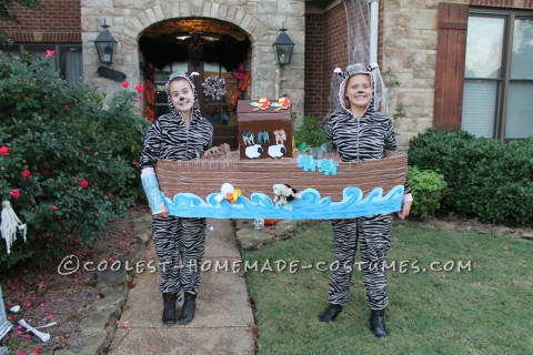 Cool Couple Costume Idea: Zebras in Noah's Ark
