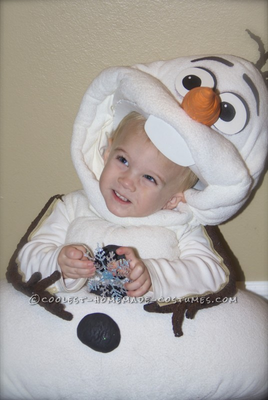 Olaf with his snowflake