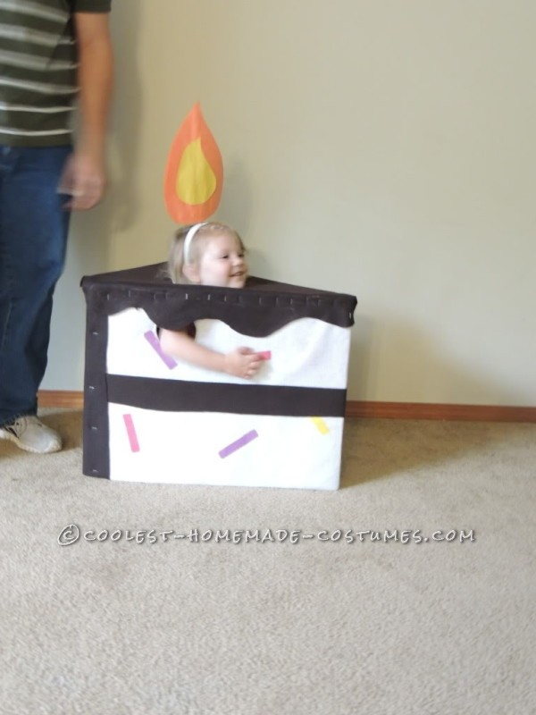 "Super Cute Last Minute ""Piece of Cake"" Toddler Costume - 1"