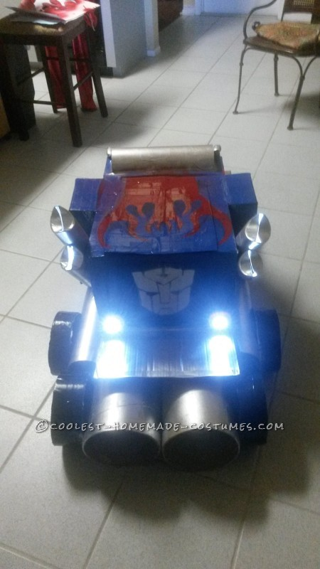 optimus prime truck form back view