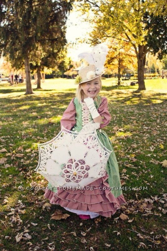 Beautiful Marie Antoinette Costume for a 5-year old Girl