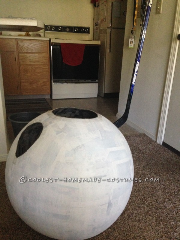 Exercise ball cut out