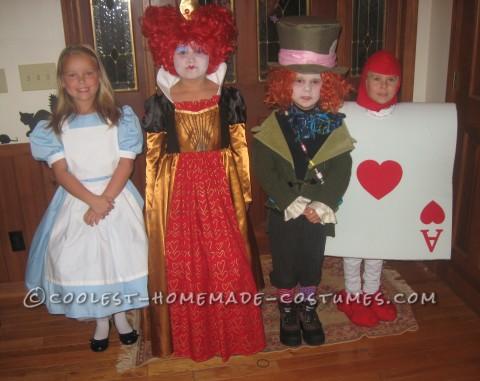 Coolest Quadruplet Alice in Wonderland Costumes