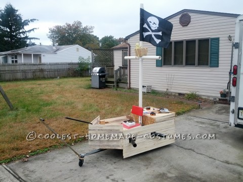 All Wooden Pirate Ship Wagon for Toddler