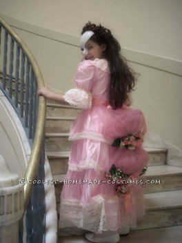 Child's Christine Daae Masquerade Costume from Phantom of the Opera