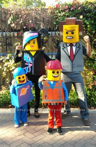 Amazing Family Themed Lego Movie Costumes!