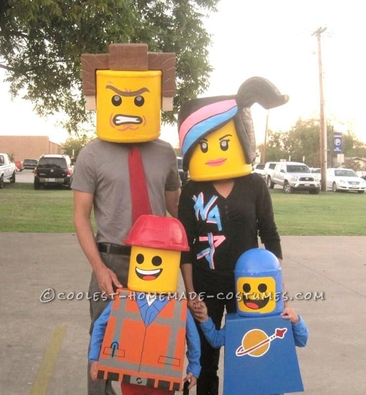 Amazing Family Themed Lego Movie Costumes