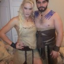 Game of Thrones Couples Costume: Khaleesi and Drogo with Warrior Kitty