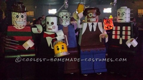 Amazing Lego Men Horror Villians Group Costume!