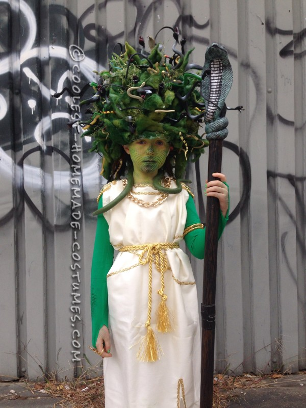 Amazing Medusa Costume and Makeup - 2