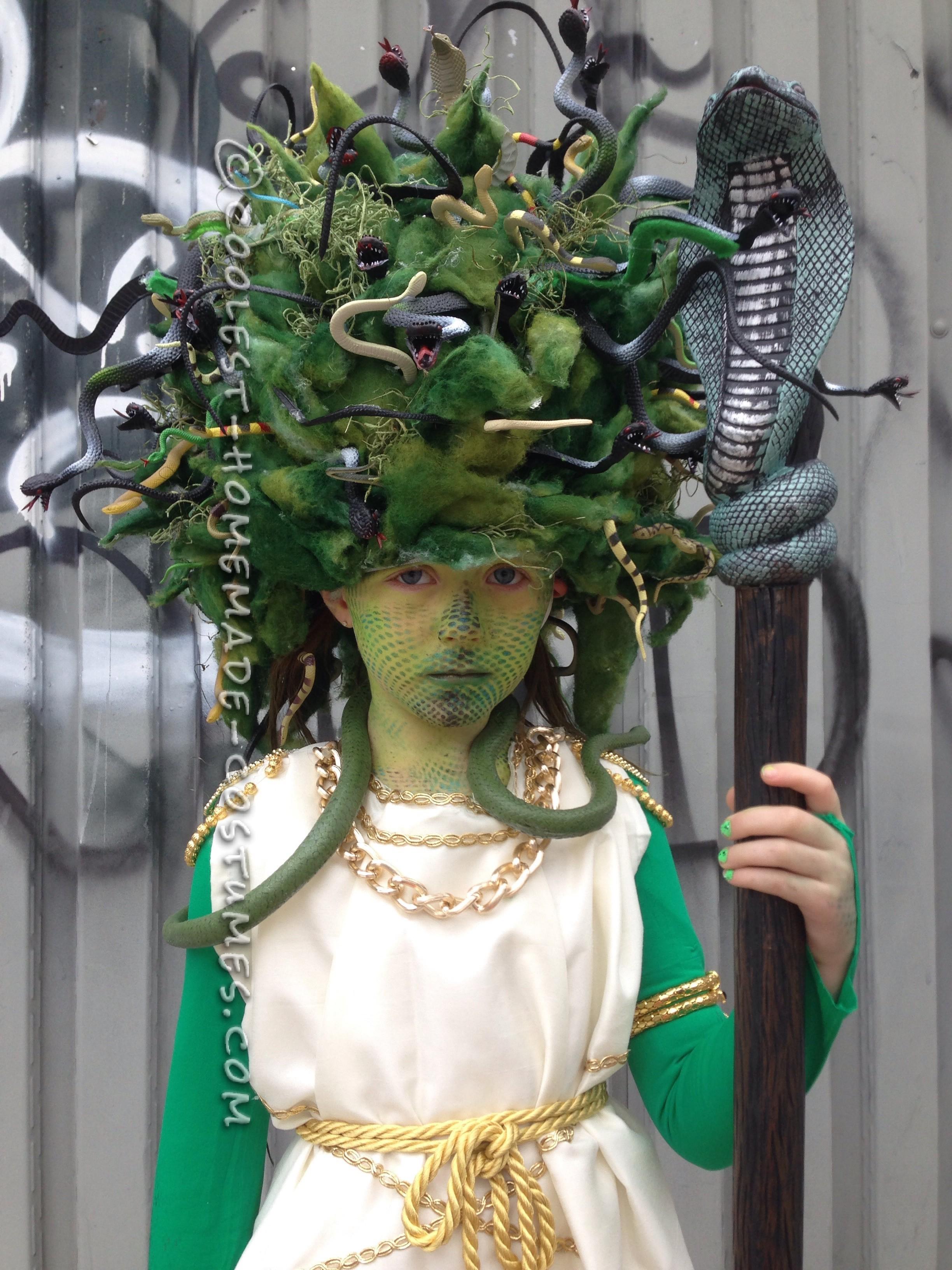 Amazing Medusa Costume and Makeup