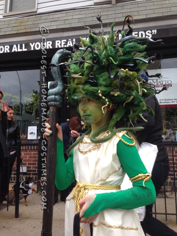 Amazing Medusa Costume and Makeup - 3