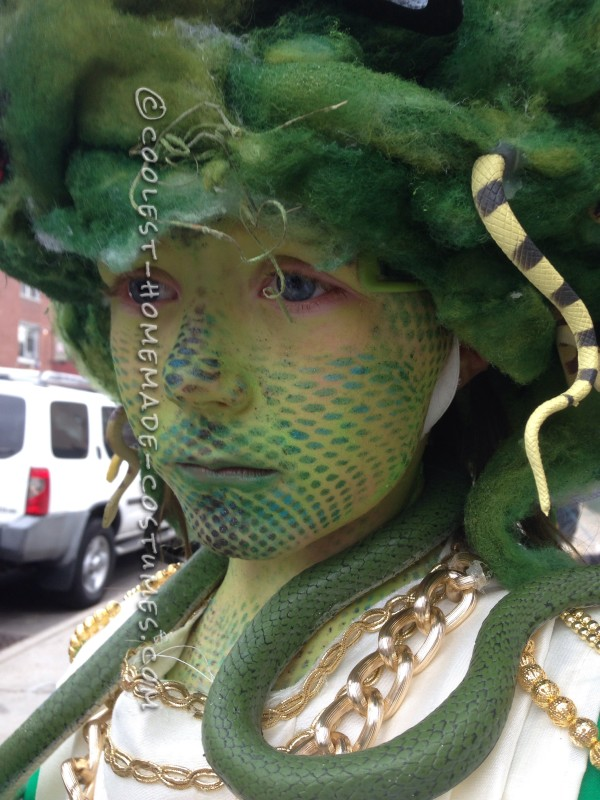 Amazing Medusa Costume and Makeup