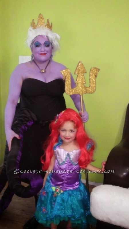 Cool Homemade Ursula Adult Costume - 2