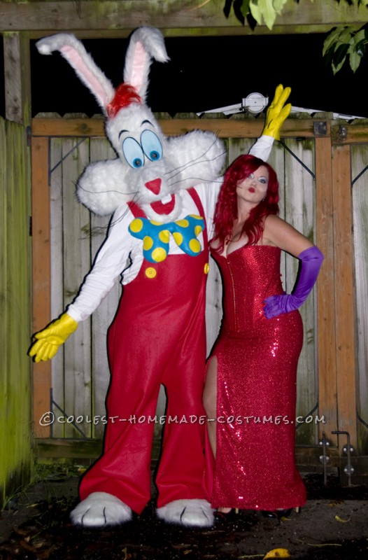 Jessica and Roger Rabbit - finished handmade costume!