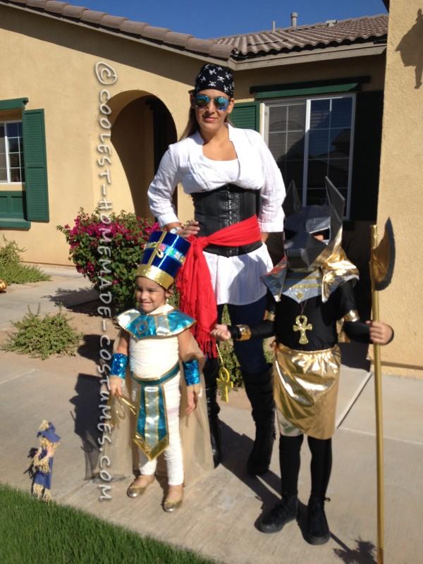 Egyptian Anubis and Nefertiti Couple Costume - 3