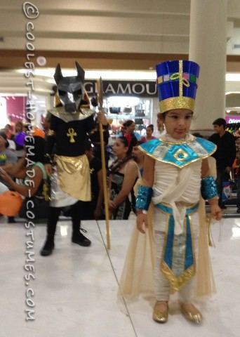 Egyptian Anubis and Nefertiti Couple Costume